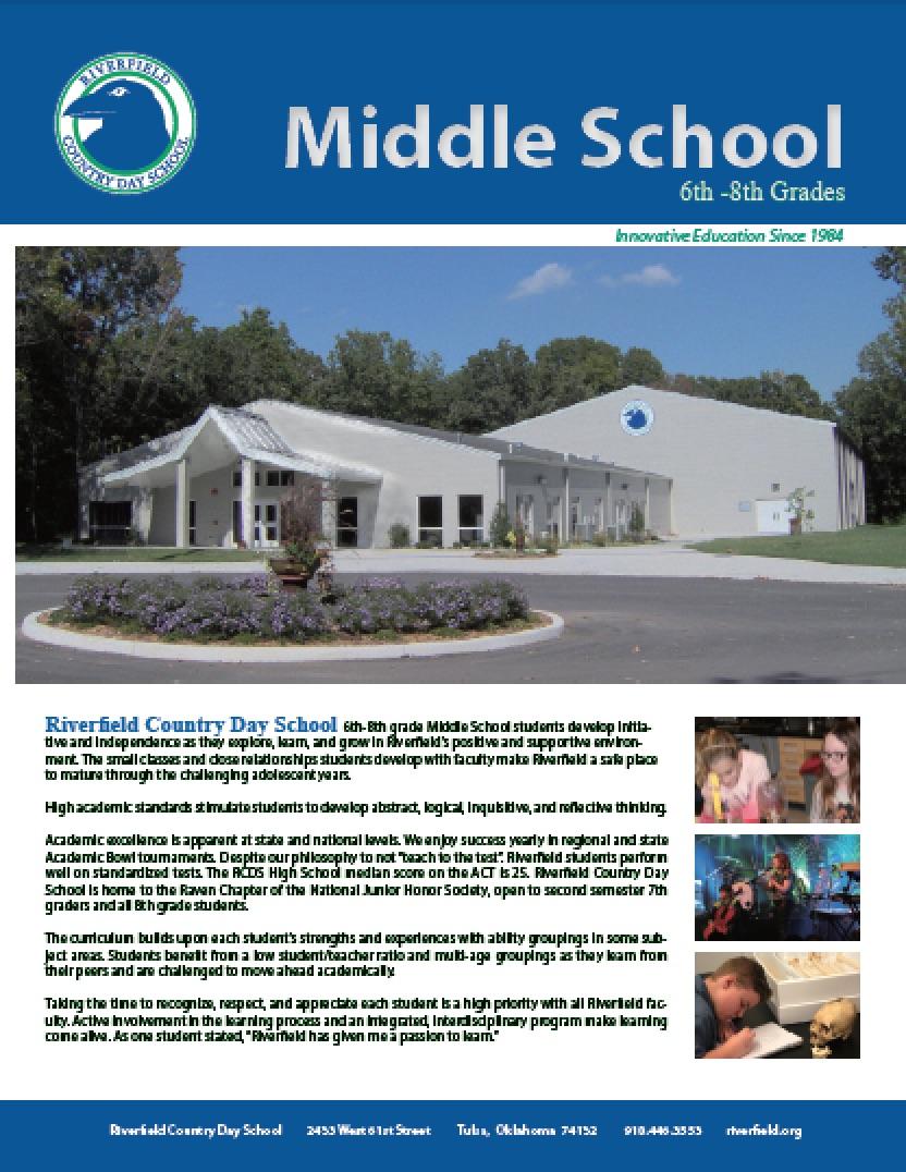 Middle School Brochure