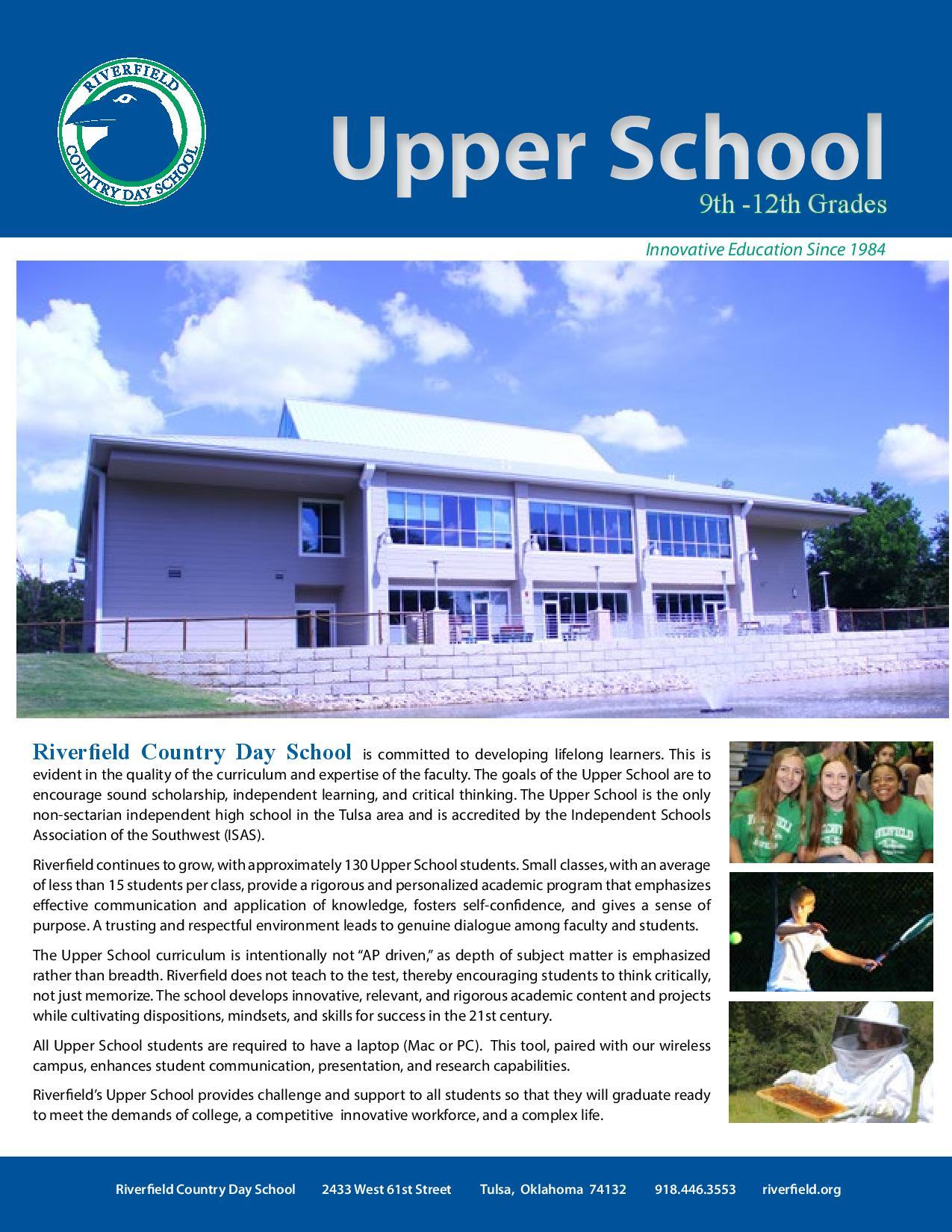 Upper School Brochure